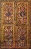 AVILA, ΙΣΠΑΝΙΑ, ΑΠΡΙΛΙΟΣ - 18, 2016: Η plateresque διακοσμητική πόρτα στο σκευοφυλάκιο Catedral de Cristo Σαλβαδόρ Στοκ Εικόνες