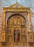 AVILA, ΙΣΠΑΝΙΑ, ΑΠΡΙΛΙΟΣ - 18, 2016: Ο δευτερεύων βωμός Catedral de Cristo Σαλβαδόρ από τον άγνωστο καλλιτέχνη 16 σεντ Στοκ Εικόνες
