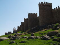 Avila. View on the fortification of Avila, Spain Royalty Free Stock Images