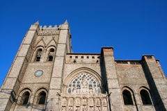 Avila. Catedral of Avila - first gothic cathedral in Spain Royalty Free Stock Images