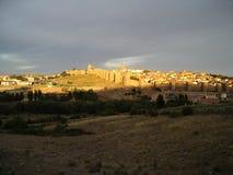 Avila au coucher du soleil Photographie stock libre de droits