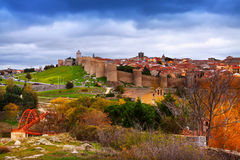 Avila  in autumn. Spain Stock Photos