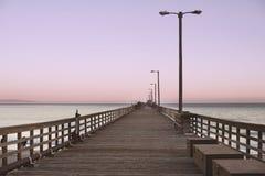 Avila Beach Pier at Dusk stock photo