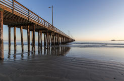 Avila Beach and Pier Stock Image