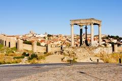 Avila, Castile and Leon. Los cuatro postes (the four poles), Avila, Castile and Leon, Spain Stock Images