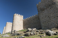 Avila Castilla y Leon, Spain: walls Royalty Free Stock Image