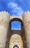 Avila Castle Town Walls Arch Gate Cityscape Castile Spain Royalty Free Stock Photos