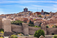 Avila Castle Walls Ancient Medieval City Castile Spain Stock Images