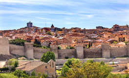Avila Castle Walls Ancient Medieval City Cityscape Castile Spain Royalty Free Stock Photos
