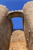 Avila Castle Walls Arch Cityscape Castile Spain Stock Photography