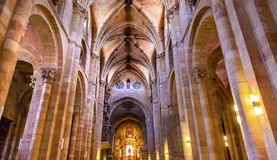 Avila Cathedral Basilica Castile Spain stock photos