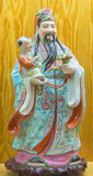 Avila - The chinese porcelain Famille Rose figure of Tao Lucky Gods Happiness - Lu Stock Photo