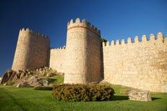 Avila city wall detail Royalty Free Stock Photo