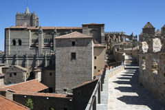 Avila city walls - Spain Stock Photography