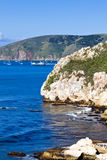 Avila de Klippen van de Baai en San Luis V van de Haven Stock Fotografie