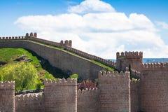 Avila. Detailed view of Avila walls, also known as murallas de avila Royalty Free Stock Photos