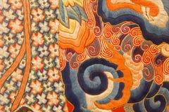 AVILA, ESPAGNE, AVRIL - 18, 2016 : Le détail de la couture chineese dans les collections d'église du vrai monasterio De Santo Tom Images libres de droits