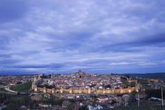 Avila, Espagne, belle ville de touristes murée Photo stock