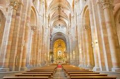 AVILA, ESPANHA, ABRIL - 19, 2016: A nave da basílica de San Vicente fotos de stock royalty free