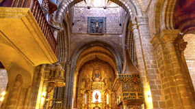 Avila het Altaarstandbeeld Mary Painting Spain van de Kathedraalbasiliek stock foto's