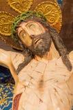 AVILA, HISZPANIA: Krzyżowanie w kościół Istny monasterio De Santo Tomas w od kaplicy Capilla Del Cristo De losu angeles Agonia Obrazy Royalty Free