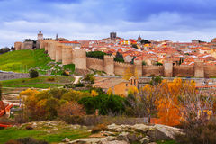 Avila with its famous town walls Stock Image