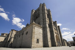 Avila-Kathedrale in Spanien Lizenzfreie Stockfotografie