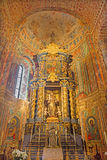 Avila - l'altare laterale barrocco della st Anthny di Pauda nella basilica de San Vicente della chiesa ed in cappella nel ` del s Fotografie Stock Libere da Diritti