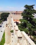 Avila medieval wall gardens, Spain Royalty Free Stock Image