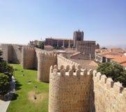 Avila Medieval Wall, Spain Stock Photography