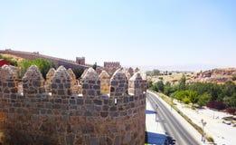 Avila medieval wall Spain Royalty Free Stock Image