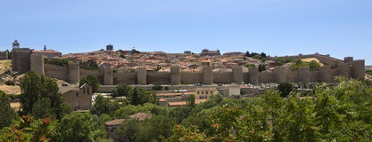 Avila Medieval Walled City - Spain Stock Image
