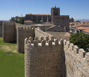 Avila miasta ściany - Hiszpania Zdjęcia Stock