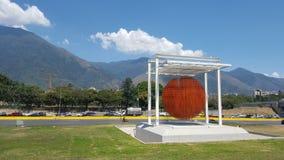 Avila mountain and Jesus Soto Sphere Royalty Free Stock Photos