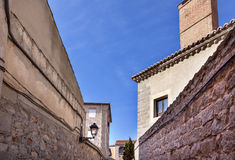 Avila Narrow City Streets Castle Walls Spain Stock Photos