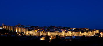 Avila at night Stock Photos