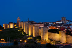 Avila at night Stock Photography