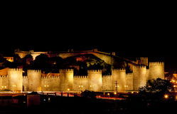 Avila at night. Castile and Leon, Spain Stock Images