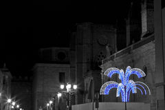 Avila at night, Christmas Royalty Free Stock Photos