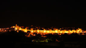 Avila by night Royalty Free Stock Images