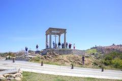 Avila. Observation Deck Four Columns Royalty Free Stock Images