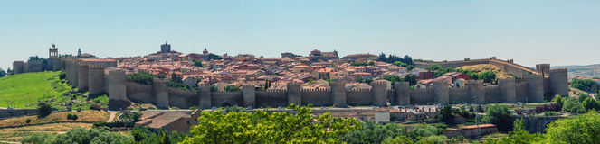 Avila panoramic view royalty free stock image