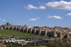 Avila's wall. View of Avila's wall, spain Stock Images
