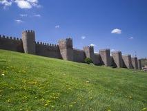 Avila's walls Royalty Free Stock Photos