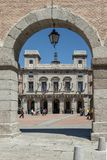 Main Square and facade of the town hall of Ávila a sunny day Sp. Avila, Spain, May 2013: women walk in the Main Square, of Ávila a sunny day Spain Stock Photos