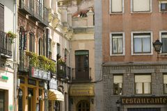 Avila Spain, an old Castilian Spanish village Stock Photos