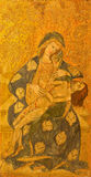 AVILA, SPAIN: Pieta painting on the wood in Catedral de Cristo Salvador  by unknown artis of 15. cent. Stock Image