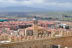 Avila, Spain. View on the town from the fortress wall Stock Photo