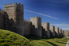 Avila, spain, wall and towers Stock Image