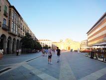 Avila square terraces Spain Stock Photos